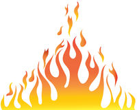 Body of flame. Vector illustrations body of flame on white background Royalty Free Stock Photo