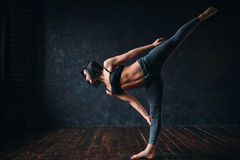 Body flexibility, contemp dancing in dance class Royalty Free Stock Photography