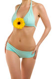 Body and flower-8 Stock Photo