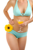 Body flower and juice-2 Royalty Free Stock Photos