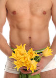 Body and flowers Stock Photography