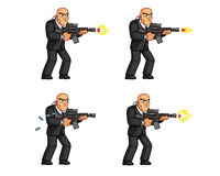 Body Guard Animation Sprite Royalty Free Stock Image