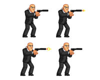 Body Guard Animation Sprite royalty free illustration