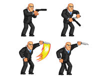 Body Guard Animation Sprite Stock Images