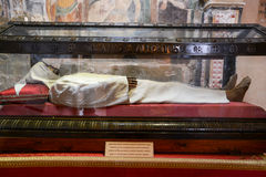 Body of the heremit Alberto Besozzi Royalty Free Stock Photos