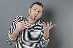 Free Body Language Concept For Talkative 40s Man Stock Photos - 63246593