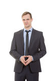 Body language. man in business suit Stock Images
