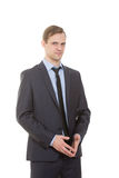 Body language. man in business suit Royalty Free Stock Image