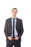 Body language. man in business suit.  Stock Images