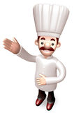 Body language to welcome Chef. 3D Chef Character Stock Images