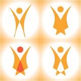 Body logo. Illustration of logos symbolizing human body Stock Photo