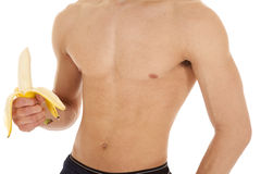 Body of man banana Royalty Free Stock Photos