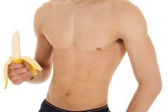 Body of man banana Royalty Free Stock Photos