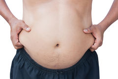 Body man fat Stock Photo