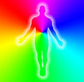 Body of man in rainbow colors Royalty Free Stock Photography