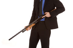 Body of man in suit gun down Royalty Free Stock Image