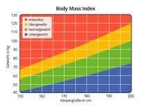 Body Mass Index in cm and kg German labeling vector illustration