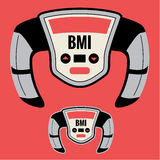 Body Mass Index Graphic. Body Mass Index Machine for measuring BMI Royalty Free Stock Photos
