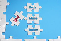 Body Mass Index Text - Health Concept Royalty Free Stock Images