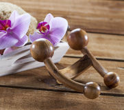 Body massage for rejuvenating and detoxing body Royalty Free Stock Images