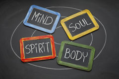 Body, mind, soul, and spirit concept Royalty Free Stock Photo