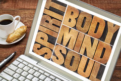 Body, mind, soul and spirit Royalty Free Stock Image
