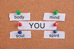 Body, mind, soul, spirit and you Royalty Free Stock Photo