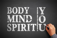 Body Mind Spirit You Royalty Free Stock Photo