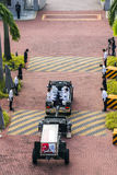 Body of Mr. Lee Kuan Yew entering Parliament house from the Istana on Mar 25 2015 Stock Photos
