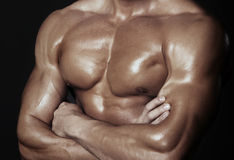 Body of muscular man Royalty Free Stock Image