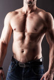 Body of muscular man. Royalty Free Stock Image