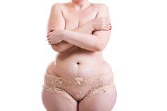 Body obese women Stock Photos