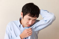 Body odor. Concept shot of Japanese life style Royalty Free Stock Images