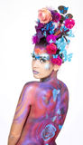 Body-painted girl.Carnival concept Royalty Free Stock Images