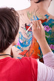 Body-painting colorido foto de stock