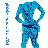 Body painting silhouette Royalty Free Stock Photos