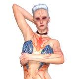 Body paiting woman Stock Photo