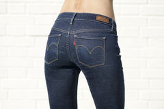 Body part blue female jeans Royalty Free Stock Photo