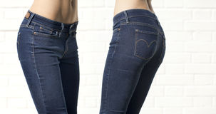 Body part blue female jeans Royalty Free Stock Photography
