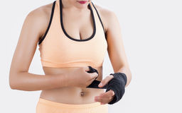Body part of boxing Woman Stock Photography