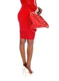 Body part of and handbag. Royalty Free Stock Photo