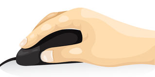 Body part hand using mouse Stock Image