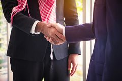 Body part Muslim Arab business man Check hand. stock image