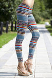 Body part of stylish leggings Royalty Free Stock Photos