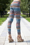 Body part of stylish leggings Royalty Free Stock Images