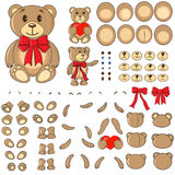 Body parts of a bear in the vector. Applique, body parts of a bear in the vector EPS Stock Photography