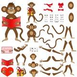 Body parts of monkeys in vector EPS 10 Stock Photos