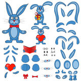 Body parts of the rabbit in vector Stock Photography