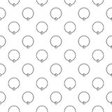 Body piercing jewelry vector background or seamless pattern. Made of captive ring outline icons Royalty Free Stock Images