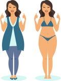 Body positive concept Royalty Free Stock Photos